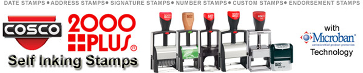 Looking for Cosco 2000 Plus custom stamps and daters? Shop the top products on the market and make your own custom stamps here.