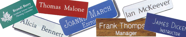 EZ Custom Stamps isn't just for stamps! We provide custom name plates, magnetic name badges and custom banners. Shop now or call (608) 310-4300 for more information.