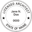 Looking for official Maine Licensed Architect stamps? Shop the EZOP Custom Stamps store for a selection of professional stamps for the state of Maine.