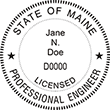 Looking for professional engineer stamps? Our Maine professional engineer stamps are available in several mount options, check them out at the EZ Custom Stamps Store.