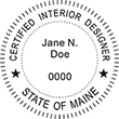 Looking for Interior designer stamps? Check out our Maine certified interior designer stamp at the EZ Custom Stamps Store.
