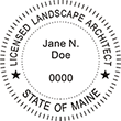 Need a landscape architect stamp? Check out our Maine licensed landscape architect stamp at the EZ Custom Stamps Store. Available in various mount options.