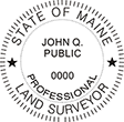 Looking for land surveyor stamps? Shop our Maine professional land surveyor stamp at the EZ Custom Stamps Store. Available in several mount options.