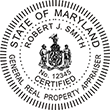 Looking for a general real property appraiser stamp in Maryland? Design your own custom stamp for your occupation here on the EZ Custom Stamps store.