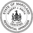 Looking for a residential real estate appraiser stamp for the state of Maryland? Find your occupation stamp on the EZOP Custom Stamps store today.