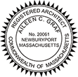 Need official Registered Architect stamps for Massachusetts? Find custom Massachusetts professional stamps on our online store.
