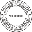 Need a Massachusetts Auto Appraiser seal stamp? Shop this customizable Official Commonwealth of Massachusetts stamp here at the EZ Custom Stamps store.