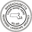 Need a landscape architect stamp? Shop this Massachusetts registered landscape architect stamp at the EZ Custom Stamps Store. Available in various mount options.