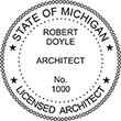 Need professional architect stamps for Michigan? Shop our selection of official State of Michigan stamps here at the EZOP Custom Stamps store.