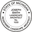 Need a landscape architect stamp? Check out our Michigan registered landscape architect stamp at the EZ Custom Stamps Store. Available in various mount options.