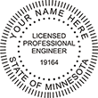 Looking for professional engineer stamps? Our round Minnesota professional engineer stamps are available in several mount options, check them out at the EZ Custom Stamps Store.