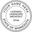 Need a landscape architect stamp? Shop for a Minnesota registered landscape architect stamp at the EZ Custom Stamps Store. Available in various mount options.
