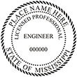 Looking for professional engineer stamps? Our Mississippi professional engineer stamps are available in several mount options, check them out at the EZ Custom Stamps Store.