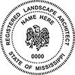 Need a landscape architect stamp? Check out our Mississippi registered landscape architect stamp at the EZ Custom Stamps Store.