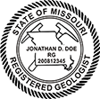 Need a professional geologist stamp in Missouri? Create your own custom geologist stamp on the EZ Custom Stamps Store today!