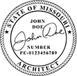 Looking for professional architect stamps for the State of Missouri? Shop our official selection of Missouri Architect Stamps online today!