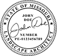 Need a landscape architect stamp? Buy this Missouri registered landscape architect stamp at the EZ Custom Stamps Store. Available in various mount options.
