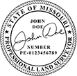 Looking for land surveyor stamps? Shop our Missouri professional land surveyor stamp at the EZ Custom Stamps Store. Available in several mount options.