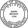 Looking for licensed architect professional stamps for the state of Montana? Shop for your custom architect professional stamp here at the EZ Custom Stamps store.