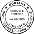 Looking for professional engineer stamps? Our Montana professional engineer and land surveyor stamps are available in several mount options, check them out at the EZ Custom Stamps Store.