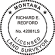 Looking for land surveyor stamps? Shop our Montana licensed land surveyor stamp at the EZ Custom Stamps Store. Available in several mount options.