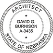 Looking for registered architect professional seal stamps for the state of Nebraska? Shop for your custom architect professional stamp here at the EZ Custom Stamps store.