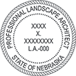 Need a landscape architect stamp? Check out our Nebraska professional landscape architect stamp at the EZ Custom Stamps Store.