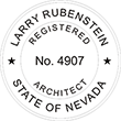Looking for registered architect professional seal stamps for the state of Nevada? Shop for your custom architect professional stamp here at the EZ Custom Stamps store.