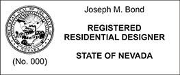 Looking for a registered residential designer stamp for the state of Nevada? Find your occupation stamp at the EZOP Custom Stamps store today.