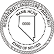 Looking for a landscape architect stamp? Buy this Nevada registered landscape architect stamp at the EZ Custom Stamps Store.