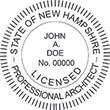 Looking for licensed architect professional seal stamps for the state of New Hampshire? Shop for your custom architect professional stamp here at the EZ Custom Stamps store.