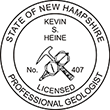 Need a professional geologist stamp in New Hampshire? Create your own custom geologist stamp on the EZ Custom Stamps Store today!
