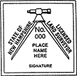Looking for land surveyor stamps? Shop our New Hampshire licensed land surveyor stamp at the EZ Custom Stamps Store. Available in several mount options.