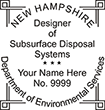 Looking for New Hampshire environmental service occupation stamps? Find the New Hampshire designer of subsurface disposal systems stamp at the EZ Custom Stamps Store.