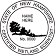 Shopping for a New Hampshire wetland scientist stamp? Available in several mount options, buy it here on the EZ Custom Stamps store today.