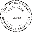 Looking for registered architect professional seal stamps for the state of New Jersey? Shop for your custom architect professional stamp here at the EZ Custom Stamps store.