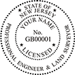 Looking for professional engineer stamps? Our New Jersey professional engineer and land surveyor stamps are available in several mount options, check them out at the EZ Custom Stamps Store.