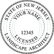 Need a landscape architect stamp? Buy this New Jersey licensed landscape architect stamp at the EZ Custom Stamps Store.