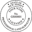 Looking for land surveyor stamps? Shop our New Jersey licensed professional land surveyor stamp at the EZ Custom Stamps Store. Available in several mount options.