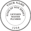 Need a master plumber stamp? Shop for New Jersey licensed master plumber stamps at the EZ Custom Stamps Store. Available in several mounting options.