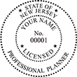 Looking for a professional planner stamp for the state of New Jersey? Find your occupation stamp at the EZ Custom Stamps store.
