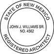 Looking for registered architect professional seal stamps for the state of New Mexico? Shop for your custom architect professional stamp here at the EZ Custom Stamps store.