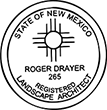Need a landscape architect stamp? Shop this New Mexico registered landscape architect stamp at the EZ Custom Stamps Store.