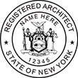Looking for registered architect professional seal stamps for the state of New York? Shop for your custom architect professional stamp here at the EZ Custom Stamps store.