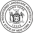 Looking for a landscape architect stamp? Buy this New York registered landscape architect stamp at the EZ Custom Stamps Store.