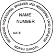 Looking for professional engineer stamps? Our North Dakota professional engineer  and land surveyor stamps are available in several mount options, check them out at the EZ Custom Stamps Store.