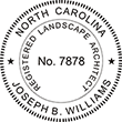 Need a landscape architect stamp? Buy this North Carolina registered landscape architect stamp at the EZ Custom Stamps Store.