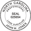 Looking for land surveyor stamps? Shop our North Carolina professional land surveyor stamp at the EZ Custom Stamps Store. Available in several mount options.
