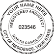 Looking for Registered Architect Stamps for North Carolina? Shop Official North Carolina Registered Architect Professional Stamps at EZ Custom Stamps Store.
