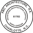 Looking for registered architectural company professional stamps for North Carolina? Buy your custom North Carolina professional stamp here at the EZ Custom Stamps store.